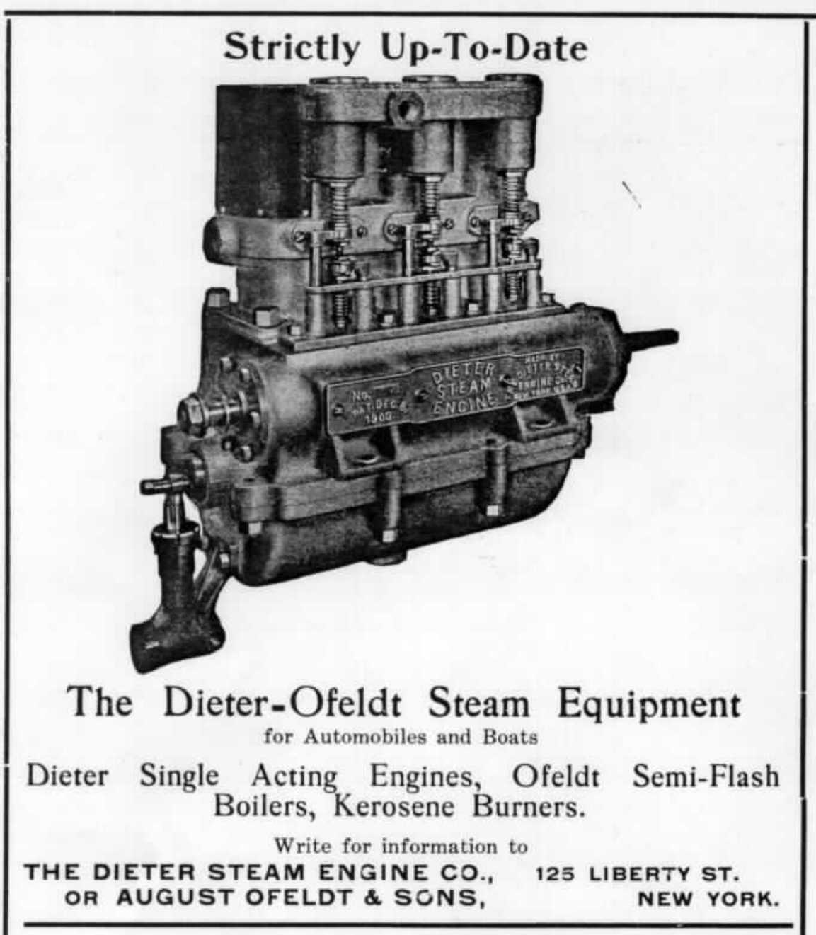 The Dieter Uniflow Steam Engine B A Magnell